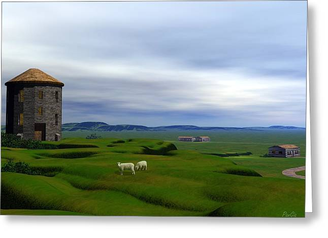 Tower Hill Greeting Card by John Pangia