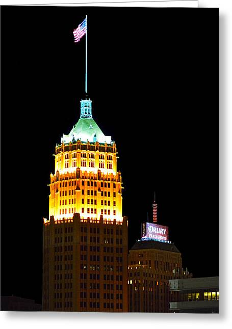 Tower Life Building San Antonio Greeting Card by Christine Till
