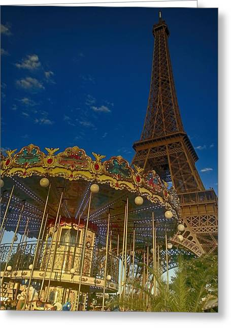 Carousel Tower Greeting Card