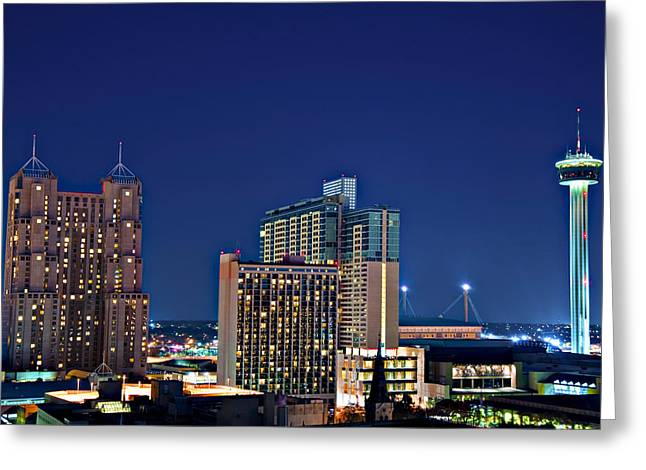 Tower Of America In San Antonio Texas City  Aerial Greeting Card