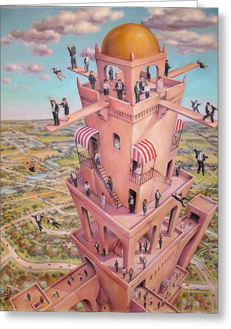 Tower Of Babbit Greeting Card by Henry Potwin