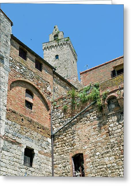 Tower Of San Gimignano, Unesco World Greeting Card