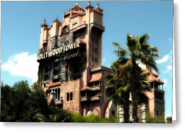 Tower Of Terror Walt Disney World Greeting Card by Thomas Woolworth