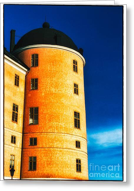 Tower Of Uppsala Castle - Sweden Greeting Card