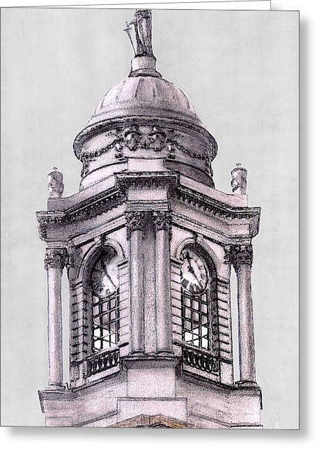 Tower Over City Hall New York City Greeting Card by Gerald Blaikie