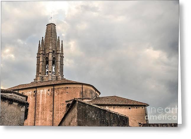 Tower Sant Feliu Church Greeting Card
