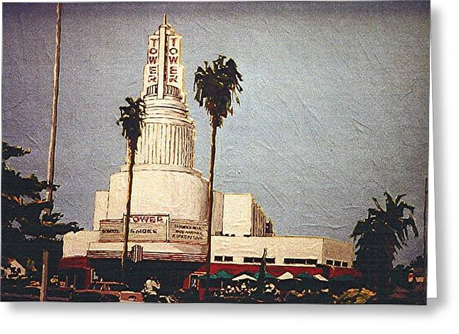 Tower Theatre Greeting Card by Paul Guyer