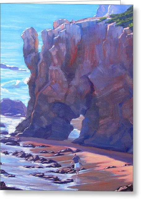 Towering El Matador Plein Air Painting Greeting Card by Elena Roche