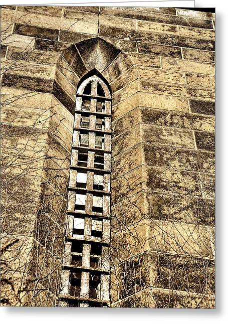 Towering Prison Greeting Card by JAMART Photography