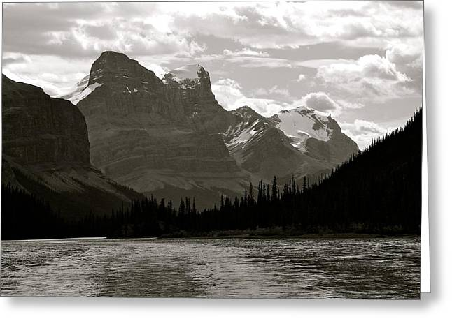Towering Peaks Greeting Card