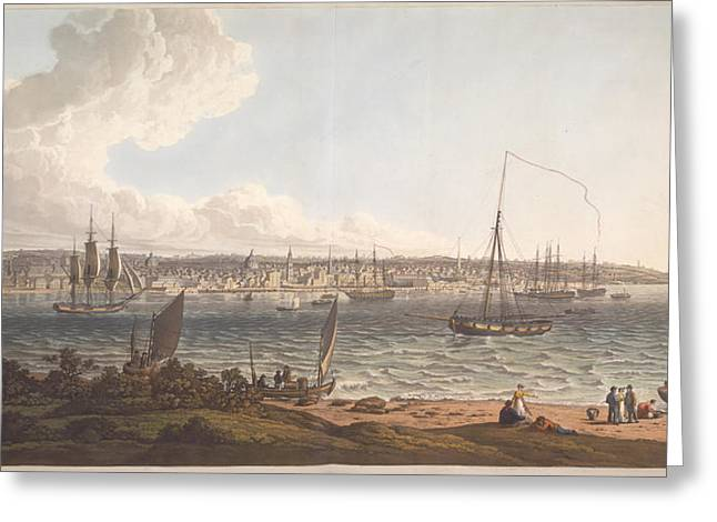 Town And Harbour Of Liverpool Greeting Card by British Library
