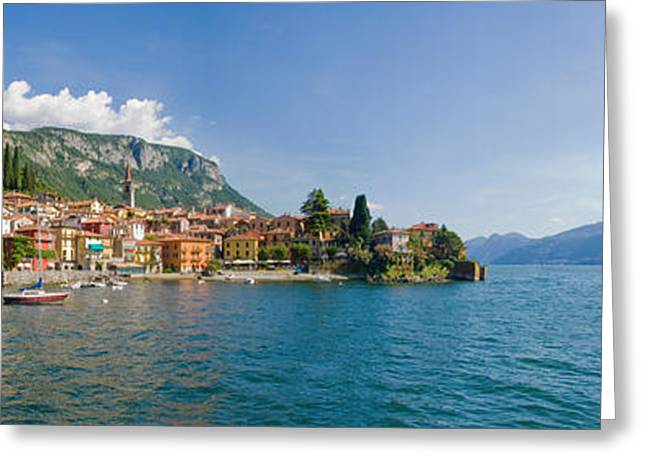Town At The Lakeside, Lake Como, Como Greeting Card by Panoramic Images