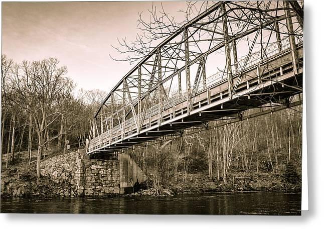 Town Bridge Collinsville Connecticut Greeting Card