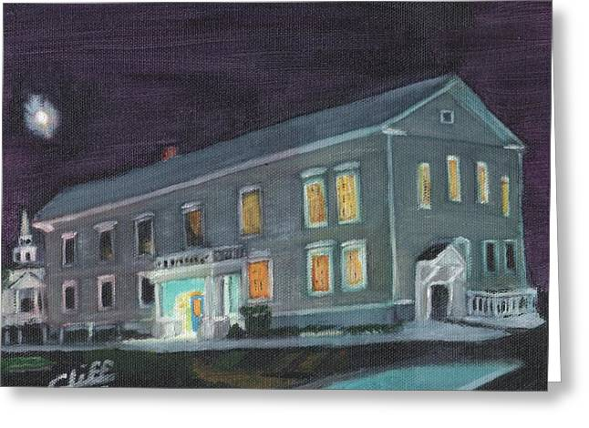 Town Hall At Night Greeting Card