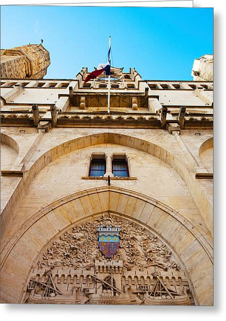 Town Hall At Place De Lhotel De Ville Greeting Card by Panoramic Images