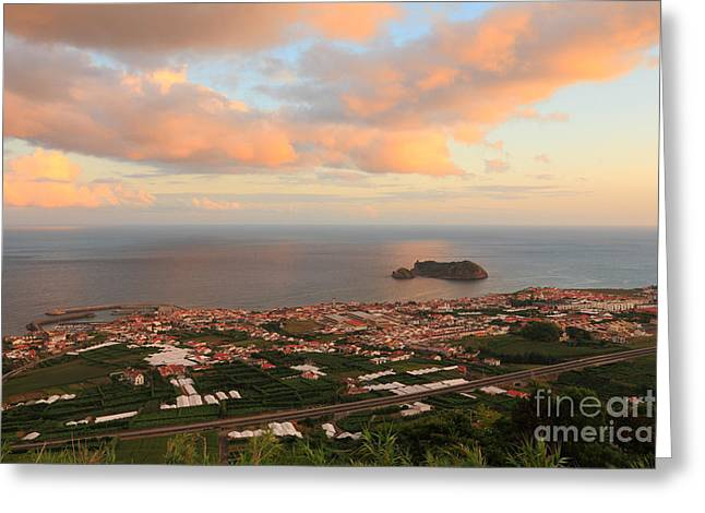 Town In Azores Greeting Card by Gaspar Avila