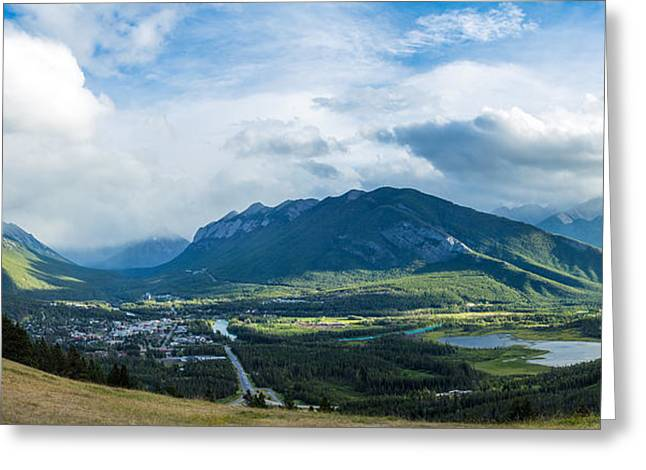 Town Of Banff In The Bow Valley Greeting Card