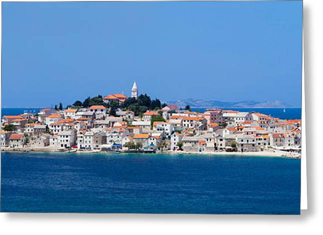 Town On A Coast, Primosten, Adriatic Greeting Card by Panoramic Images