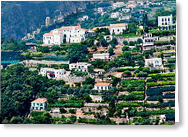 Town On A Hill, Ravello, Amalfi Coast Greeting Card by Panoramic Images