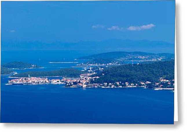 Town On An Island, Korcula, Korcula Greeting Card by Panoramic Images