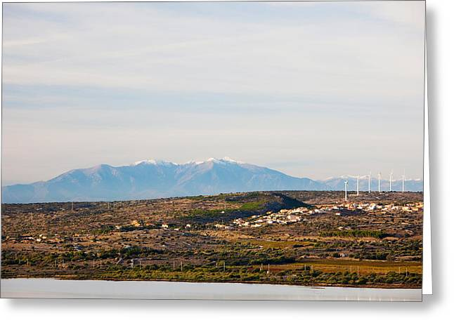 Town Overview From Cap Leucate Greeting Card by Panoramic Images