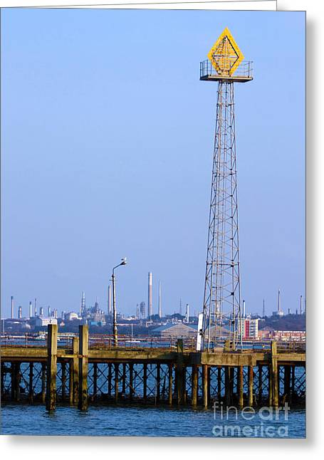 Town Quay Navigation Marker And Fawley Greeting Card by Terri Waters