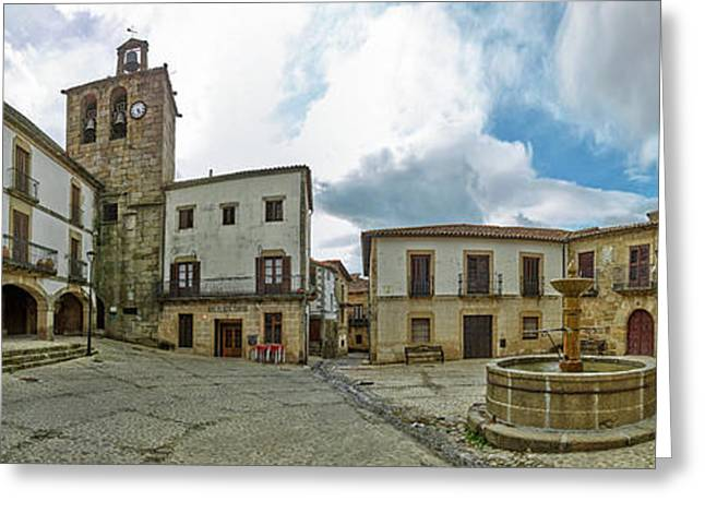 Town Square, Plaza Mayor Square, San Greeting Card