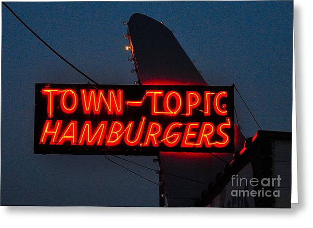 Town Topic  Neon Greeting Card