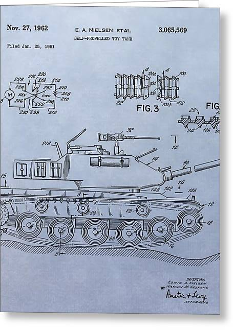 Toy Army Tank Patent Greeting Card by Dan Sproul