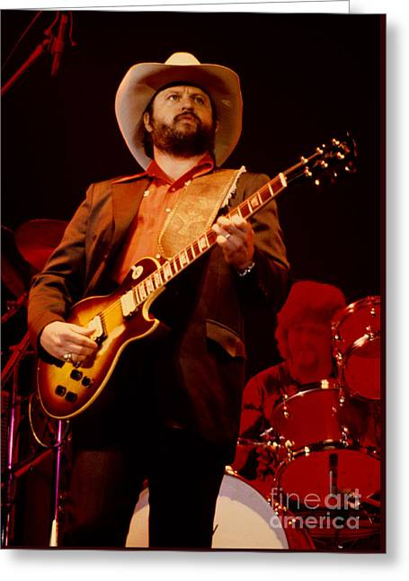 Toy Caldwell Of The Marshall Tucker Band At The Cow Palace Greeting Card