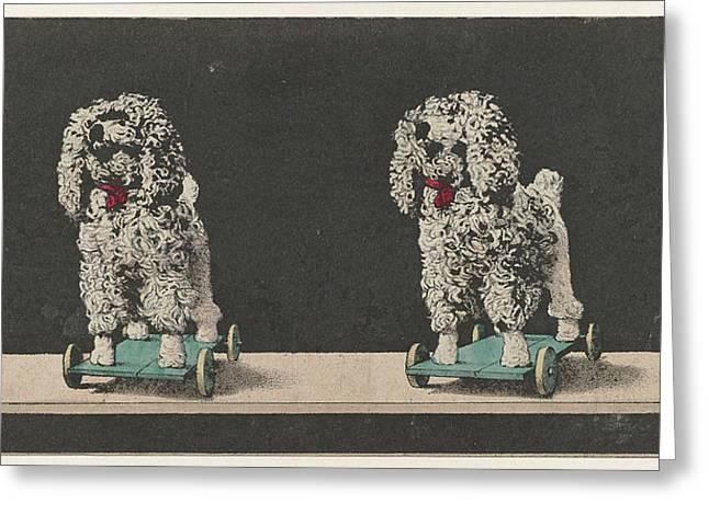 Toy, Dog On Wheels Greeting Card by Artokoloro