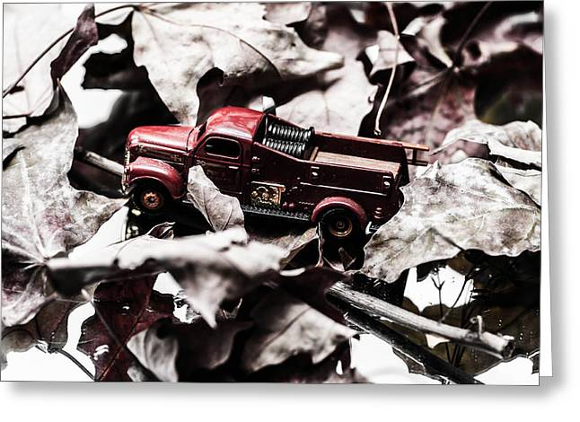 Toy Fire Truck Greeting Card