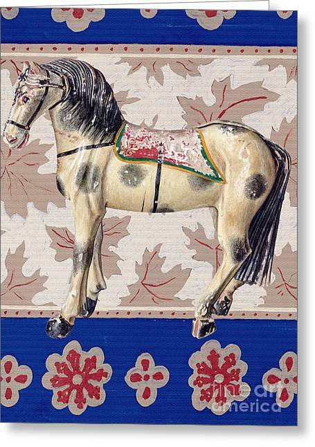 Toy Horse Greeting Card