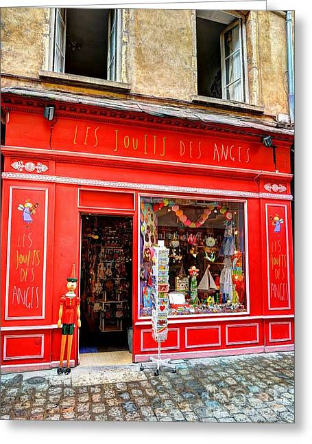Toy Shop In Old Town Lyon Greeting Card