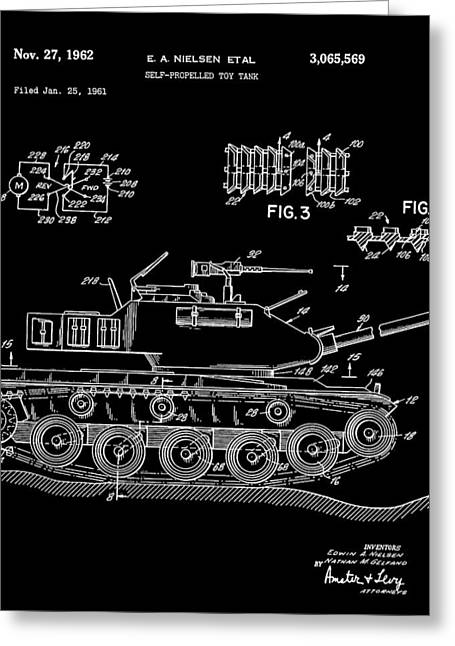 Toy Tank Greeting Card by Dan Sproul