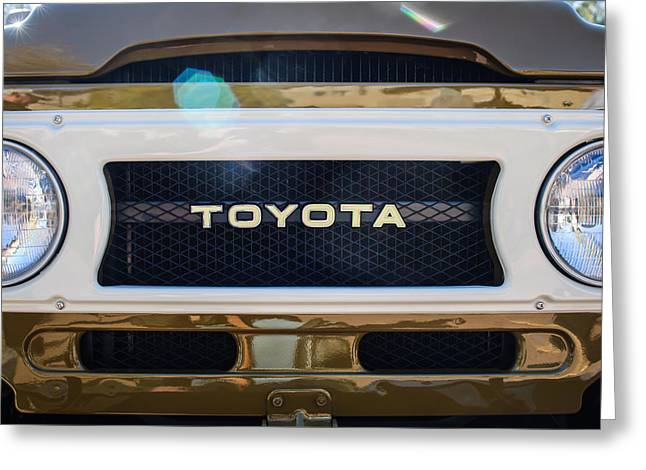 Toyota Land Cruiser Grille Emblem  Greeting Card by Jill Reger