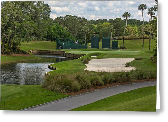 Tpc Sawgrass Golf Course Hole 13 Photo 1 Wide Greeting Card by Phil Reich