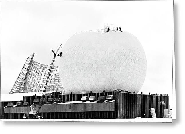 Tr Radome Under Construction Greeting Card by Library Of Congress