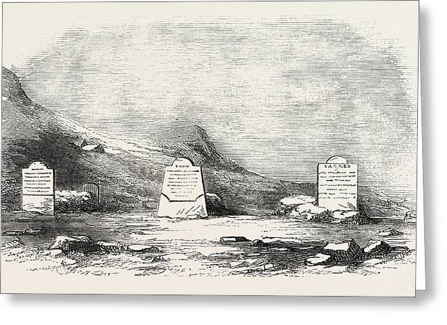 Traces Of The Franklin Expedition The Three Graves At Cape Greeting Card by English School