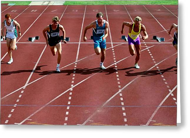 Track Runners Greeting Card