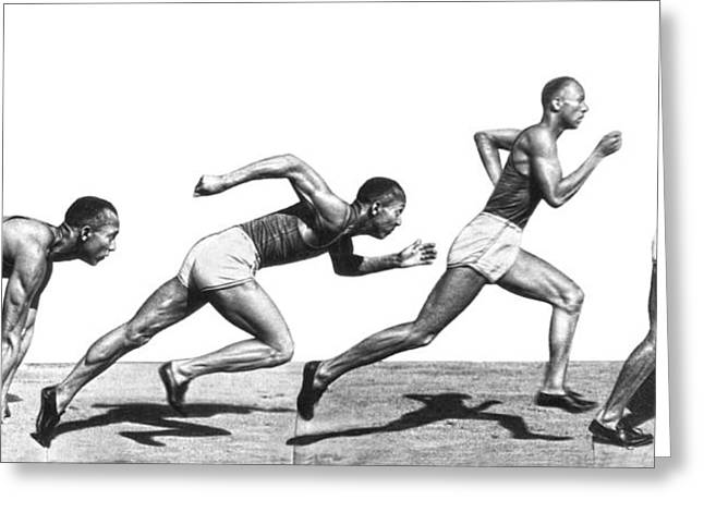 Track Star Jesse Owens Greeting Card by Underwood Archives