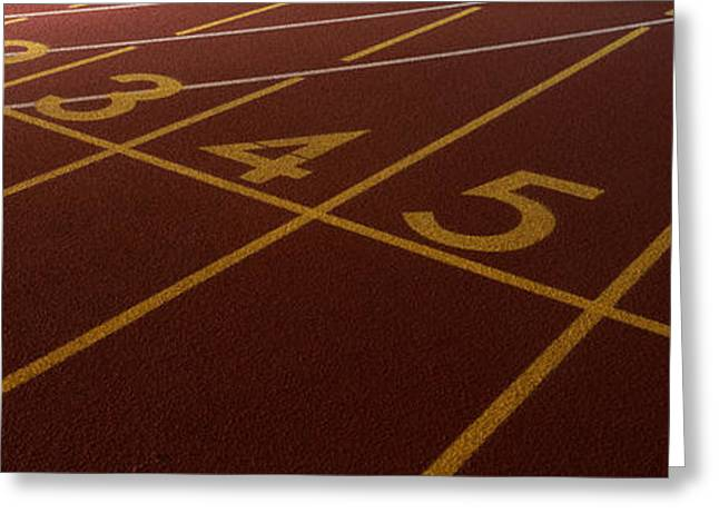 Track, Starting Line Greeting Card by Panoramic Images