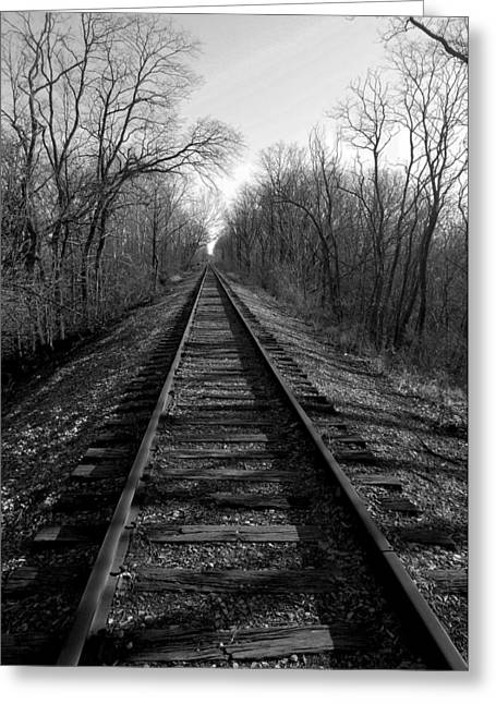 Tracks Greeting Card by Brian Amick