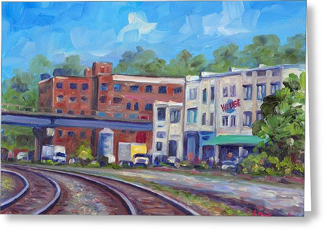 Tracks By The Wedge Brewery Greeting Card by Jeff Pittman