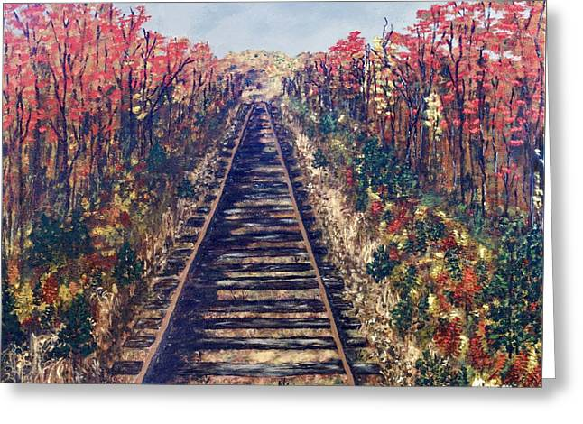 Tracks Remembered Greeting Card