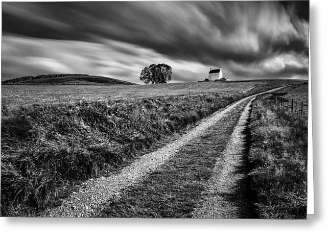 Tracks To Corgarff Castle Greeting Card by Dave Bowman