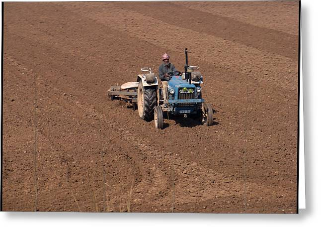 Tractor  Greeting Card by Bliss Of Art