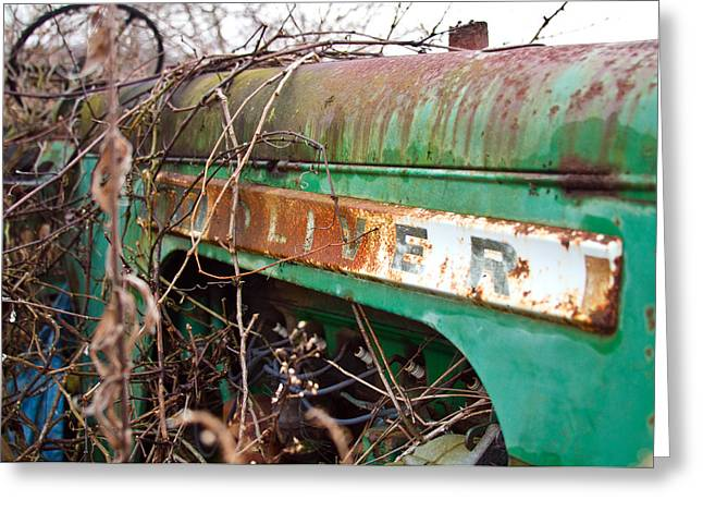 Tractor And Weeds  Greeting Card