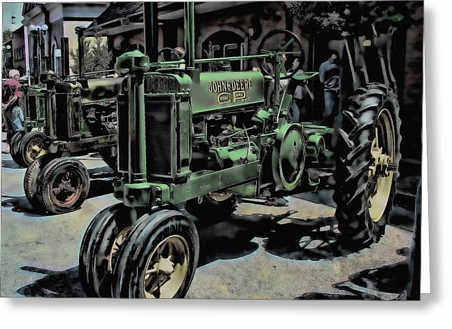 Tractor Art Greeting Card