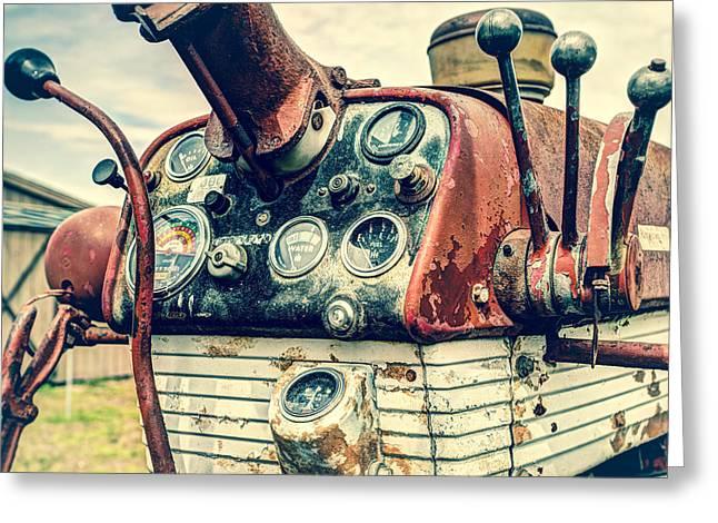 Tractor Dash - Farmall 560 Diesel Greeting Card by Gary Heller